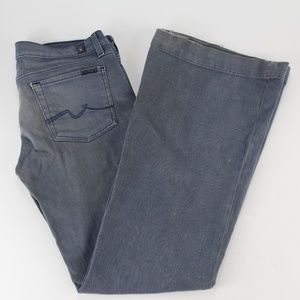7 For All Mankind Womens Jeans Size 30 Flare Cut